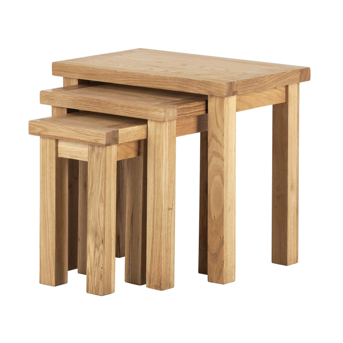 Charlestown Oak Nest of 3 Tables