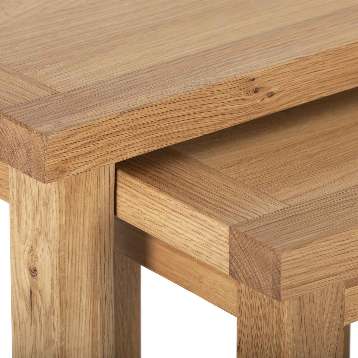 Closeup - Charlestown Oak Nest of 2 Tables