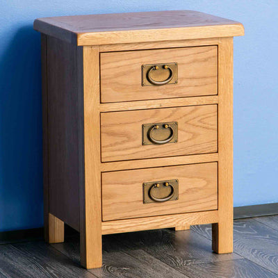 Bedside cabinet - Surrey Oak 3 piece bedroom set