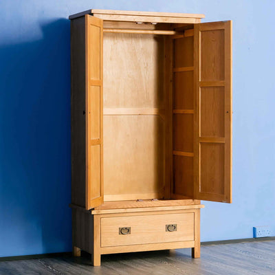Wardrobe - Surrey Oak 3 piece bedroom set