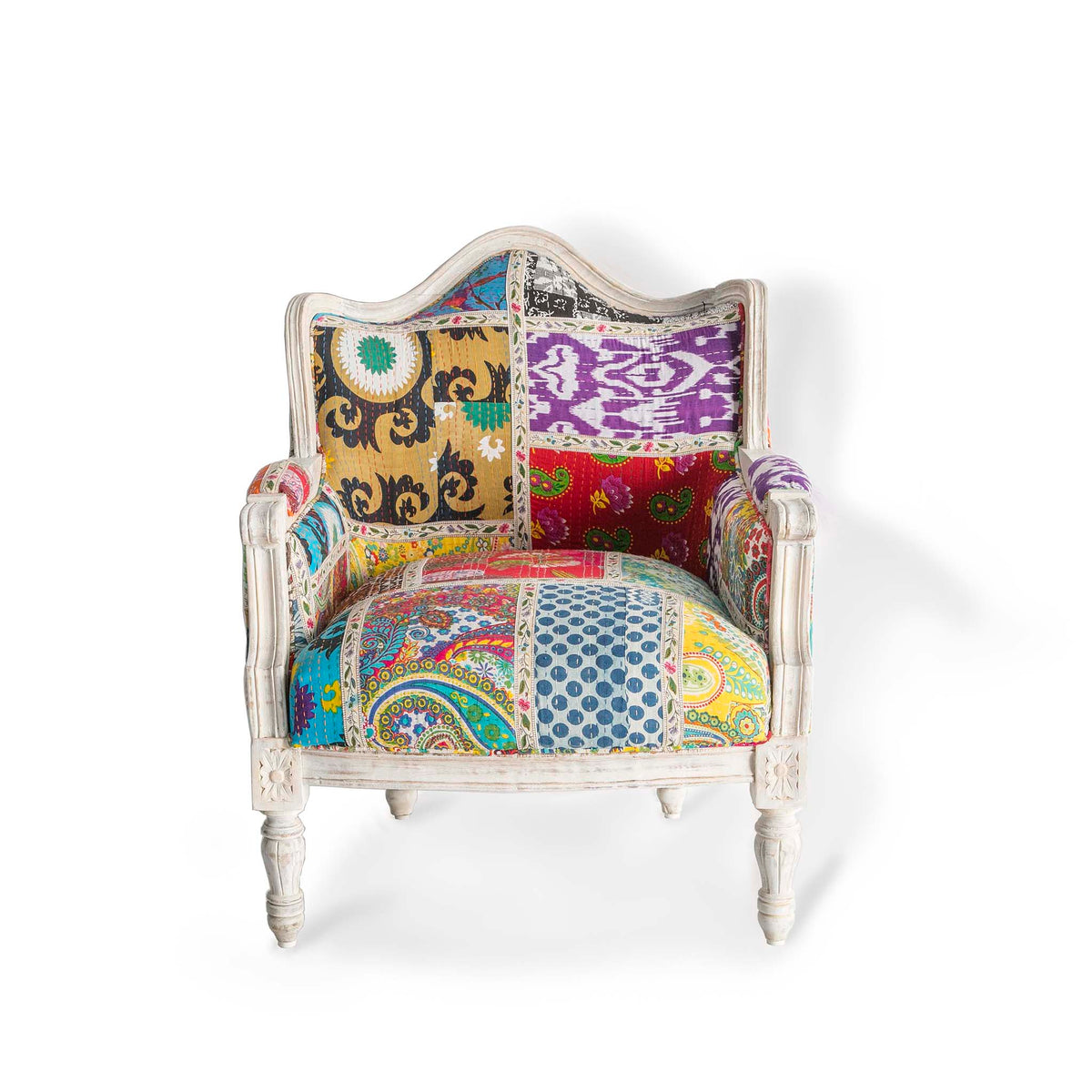 Kantha Upholstered Patchwork Chair
