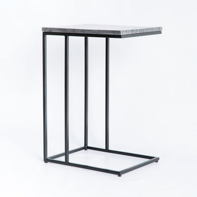 Kandla Black Marble Top Side Table by Roseland Furniture