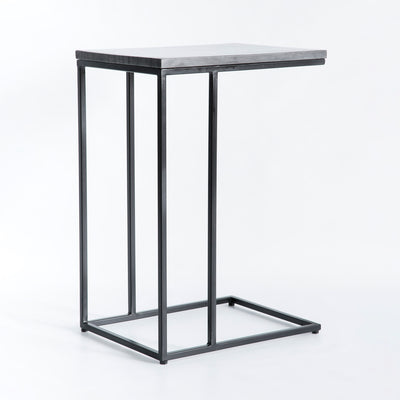 Kandla Black Marble Top Side Table