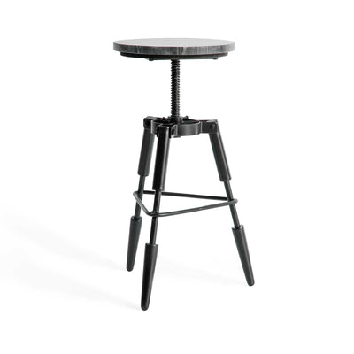 Kandla Black Marble Tripod Stool by Roseland Furniture
