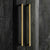 Close up of the golden metal handles on the Genoa Small Sideboard