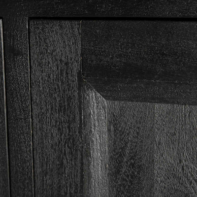Close up of the black bevelled door on the Genoa Small Sideboard