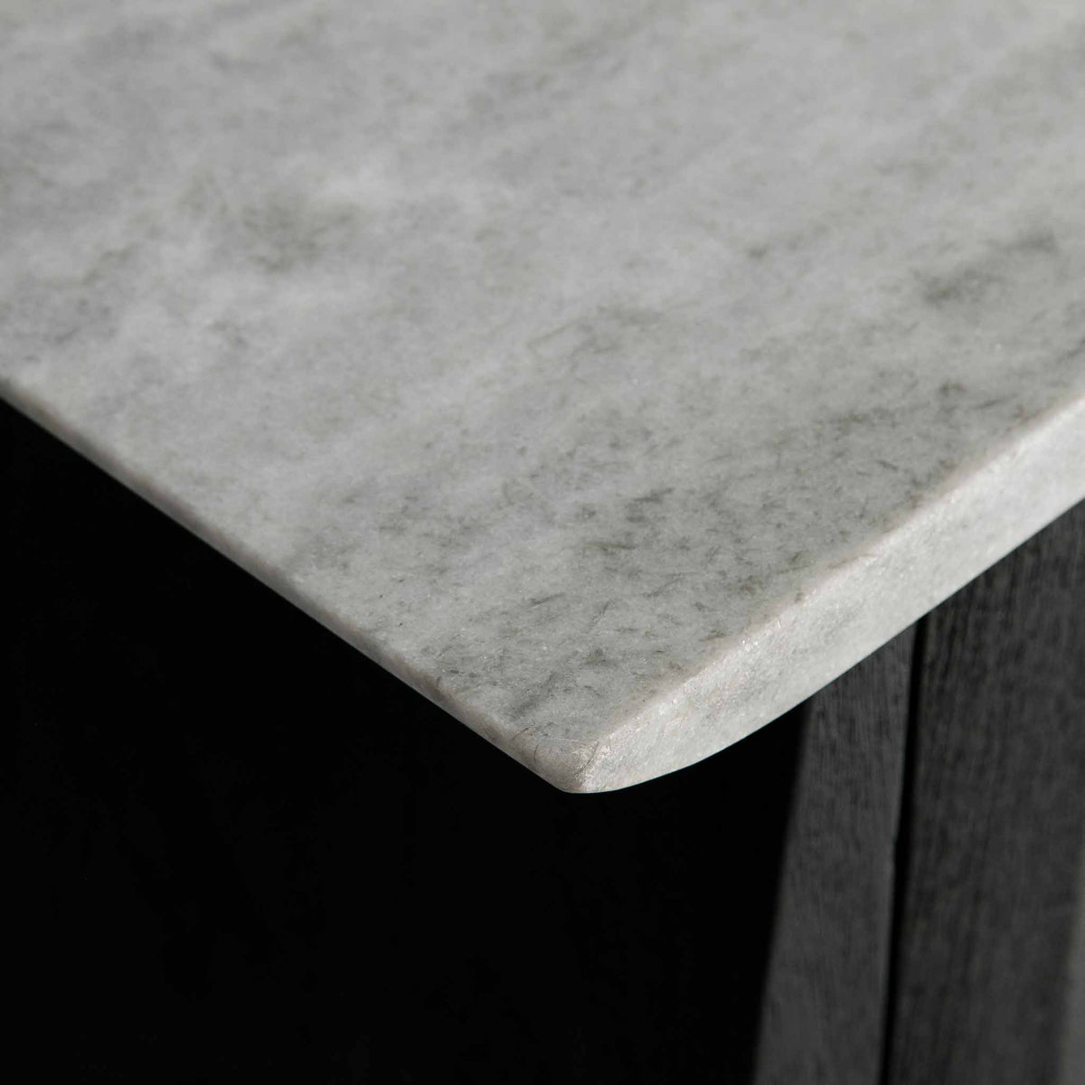 Genoa 2 Door Sideboard - Close up of the Marble left corner