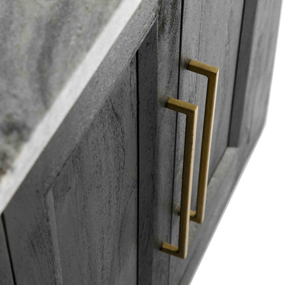 Genoa Small Sideboard - Topside view of the golden metal handles