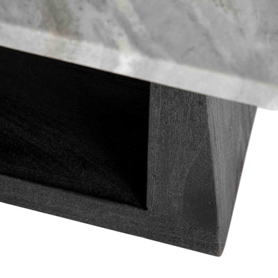 Genoa Coffee Table - Close up of the black wooden base