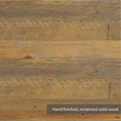 Swatch of reclaimed wood for Urban Elegance Reclaimed Wood Living Room Storage Cabinet