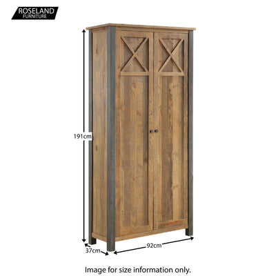 Dimensions for Urban Elegance Reclaimed Wood Living Room Storage Cabinet