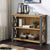 Urban Elegance Reclaimed Wood & Steel Frame Low Bookcase