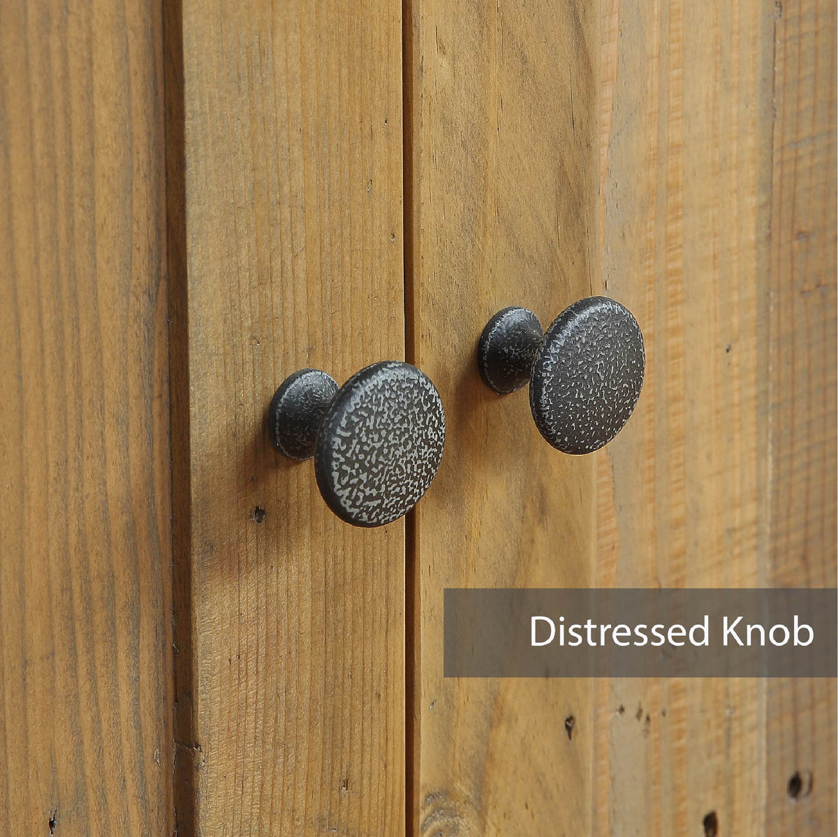 Steel door knobs for Urban Elegance Reclaimed Wood Large 3 Door Sideboard