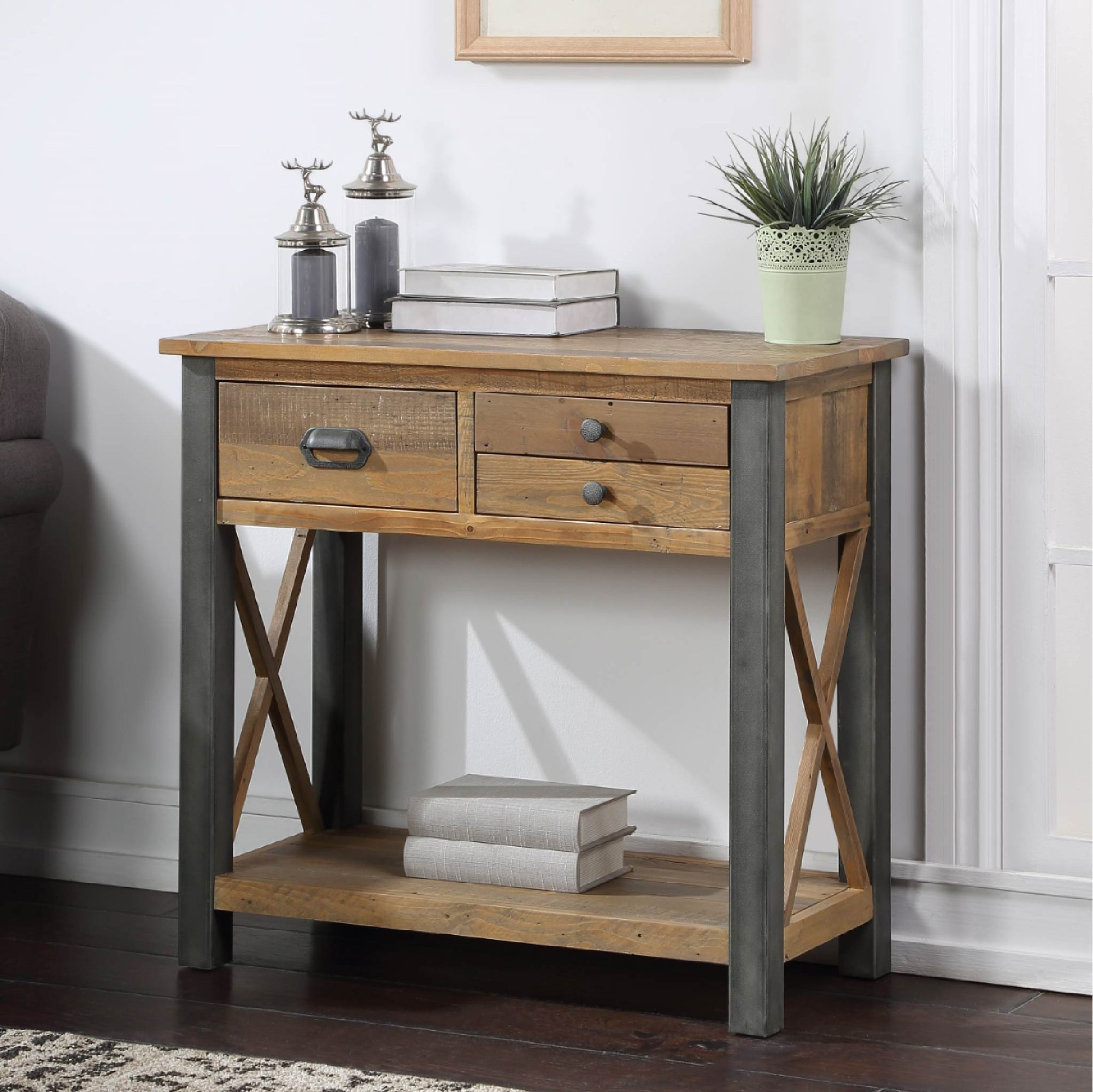 Urban Elegance Reclaimed Wood Small Console Table