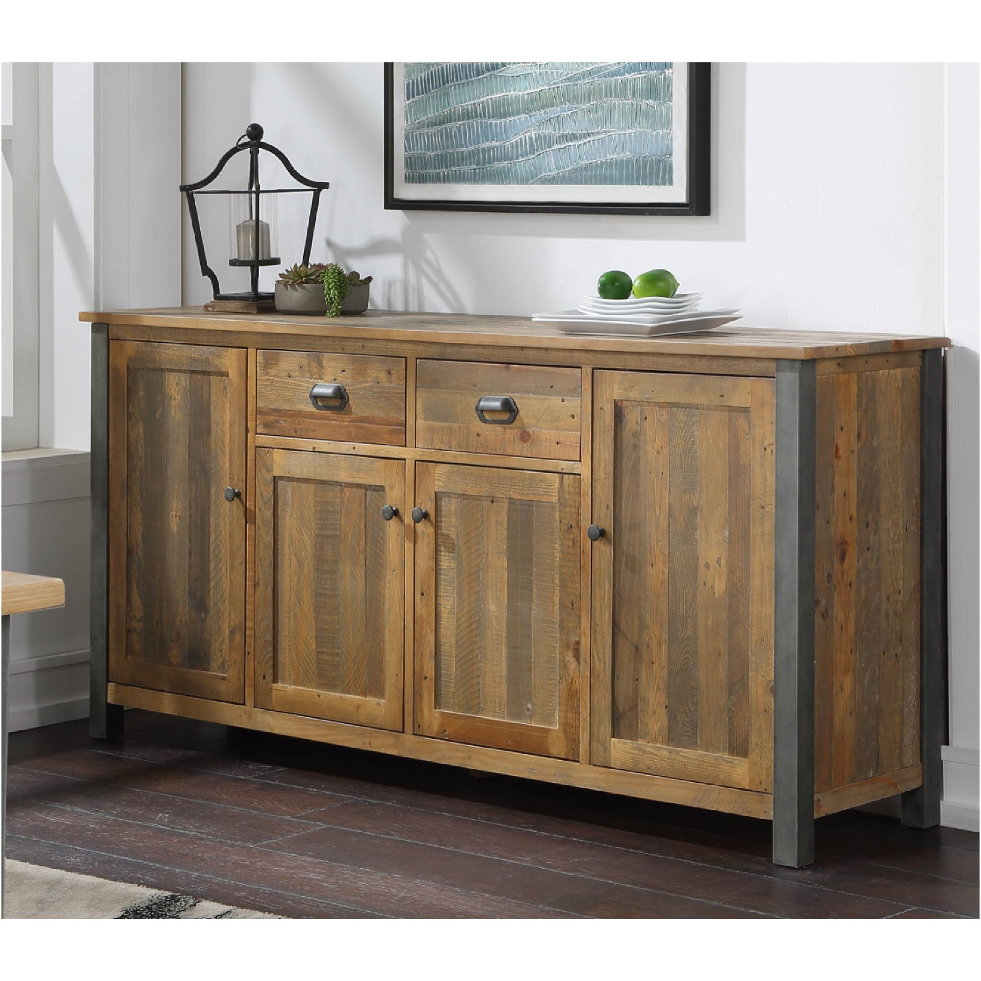 Urban Elegance Reclaimed Wood Extra Large Sideboard