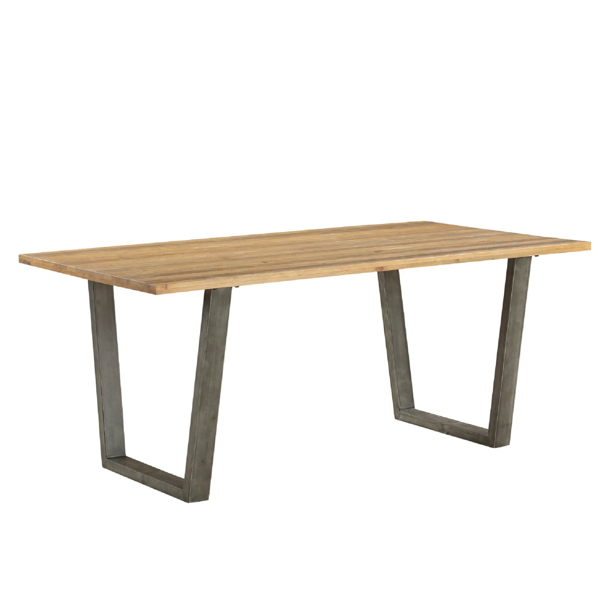 Urban Elegance Reclaimed Wood Dining Table on white background