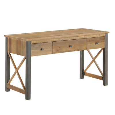 Urban Elegance Reclaimed Wood home Office Desk on white background