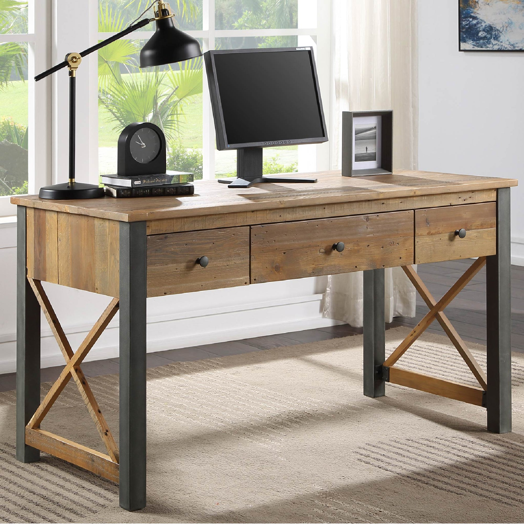 Urban Elegance Reclaimed Wood home Office Desk