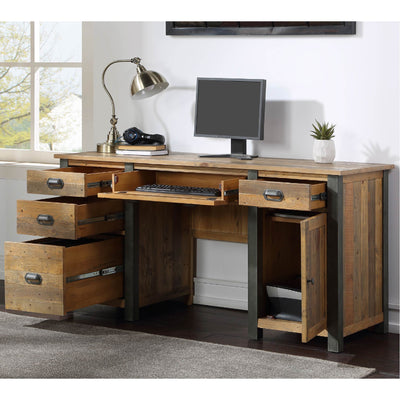 Internal view of Urban Elegance Reclaimed Wood Large Home Office Desk