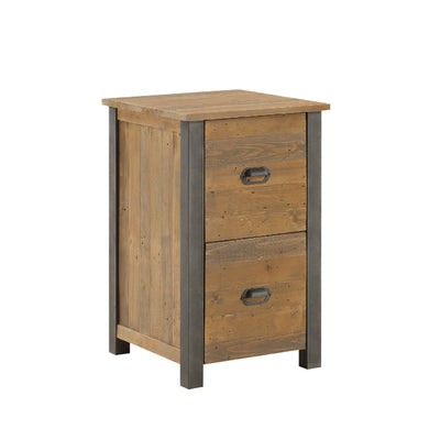 Urban Elegance Reclaimed Wood Office Filing Cabinet on white background
