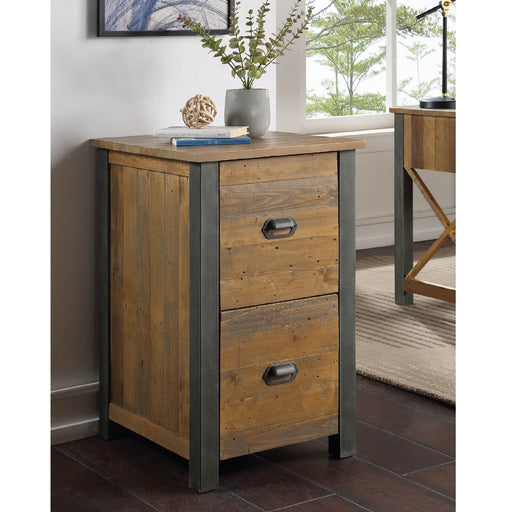 Urban Elegance Reclaimed Wood Office Filing Cabinet