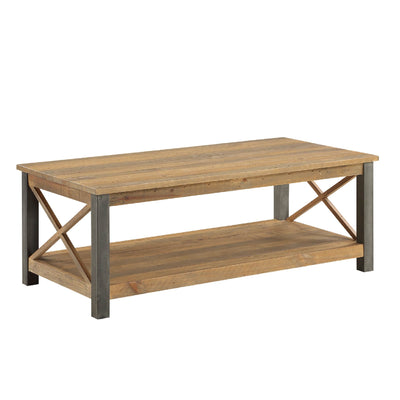 Urban Elegance Reclaimed Wood Extra Large Coffee Table  on white background