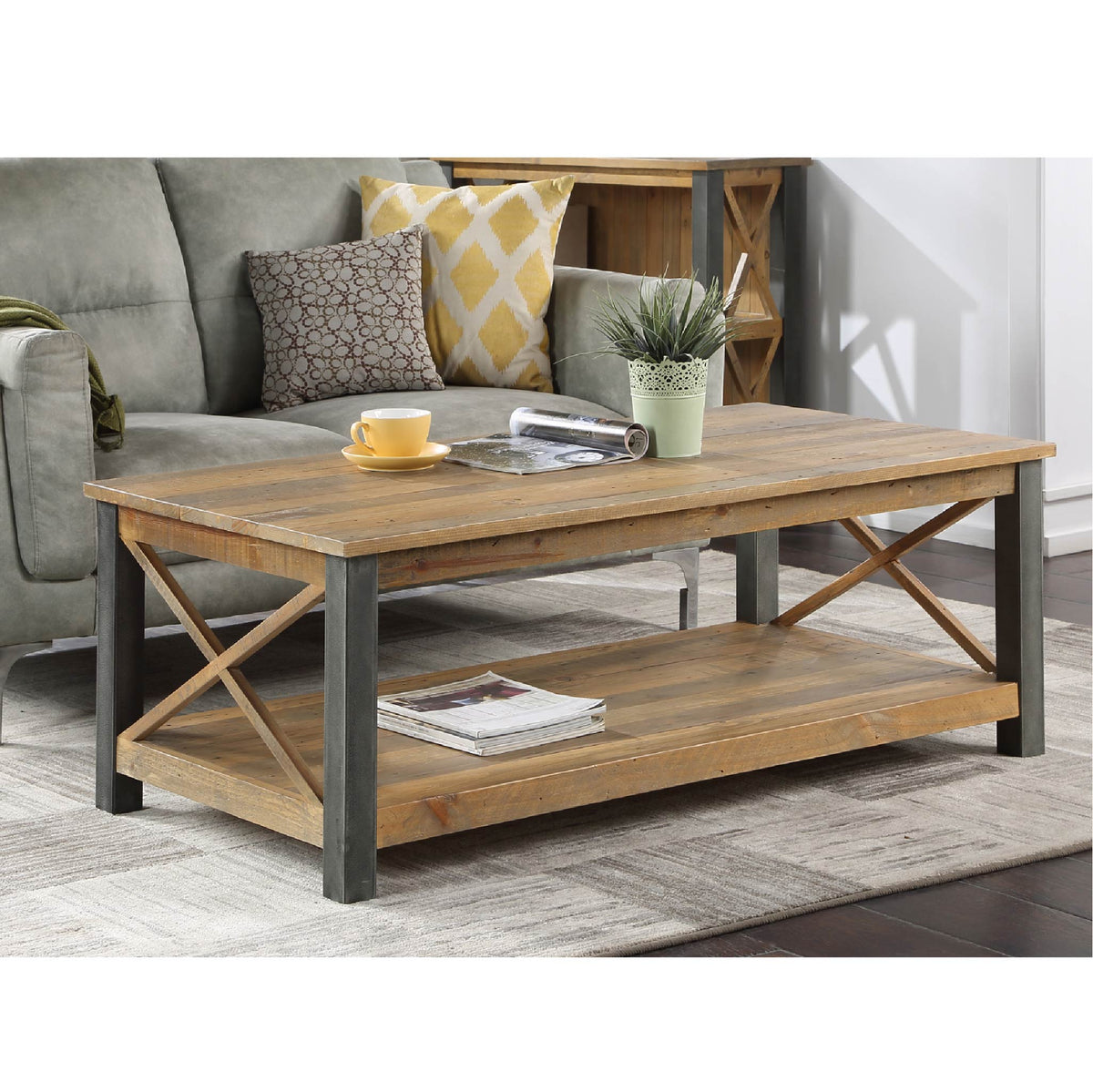 Urban Elegance Reclaimed Wood Extra Large Coffee Table