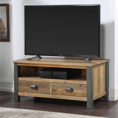 Urban Elegance Industrial Reclaimed Wood TV Stand