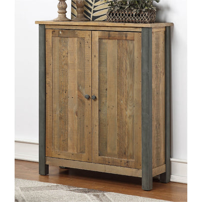 Urban Elegance Reclaimed Wood Large Shoe Storage Cupboard