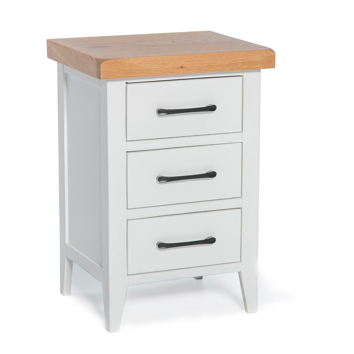 Chatsworth White Bedside Table by Roseland Furniture