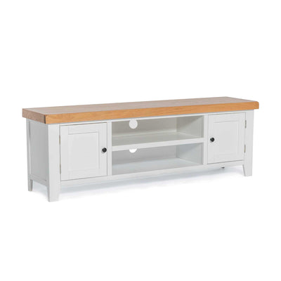 Chatsworth White 150cm Extra Large TV Stand by Roseland Furniture