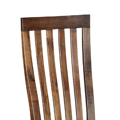 Ladock Dining Chair - Close Up of Slatted Back