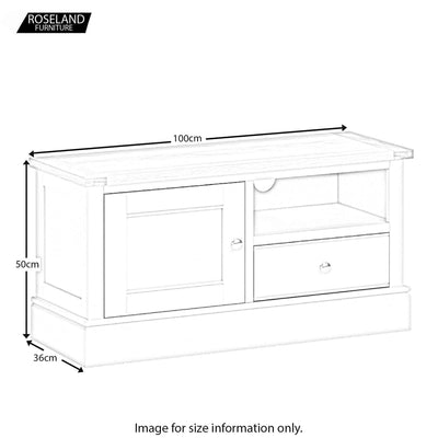 Chichester Small TV Unit Size Guide