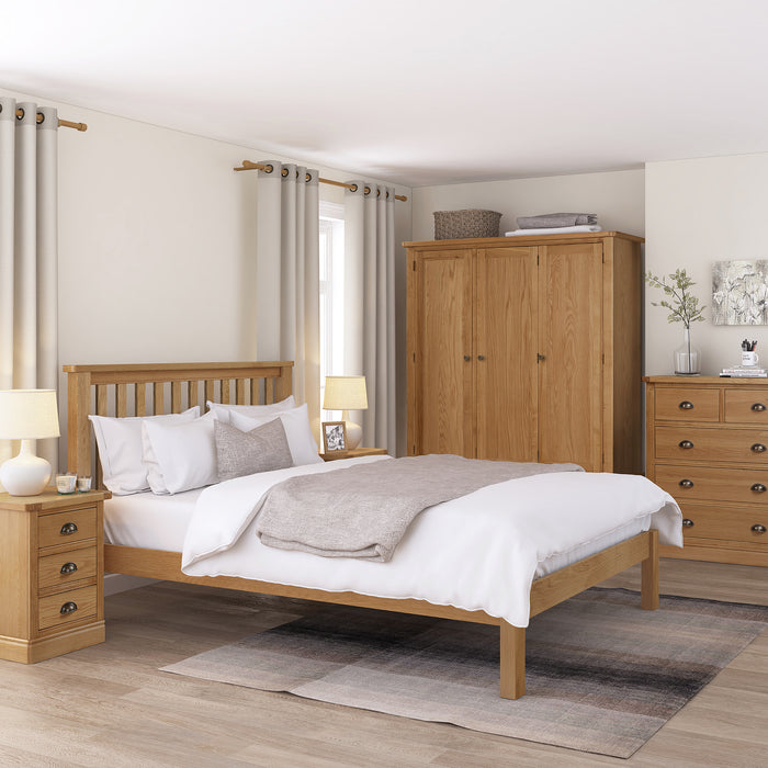 Sussex Oak 5'0 Low End Bed Frame