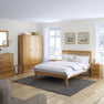 Sussex Oak 4'6 Low End Bed Frame