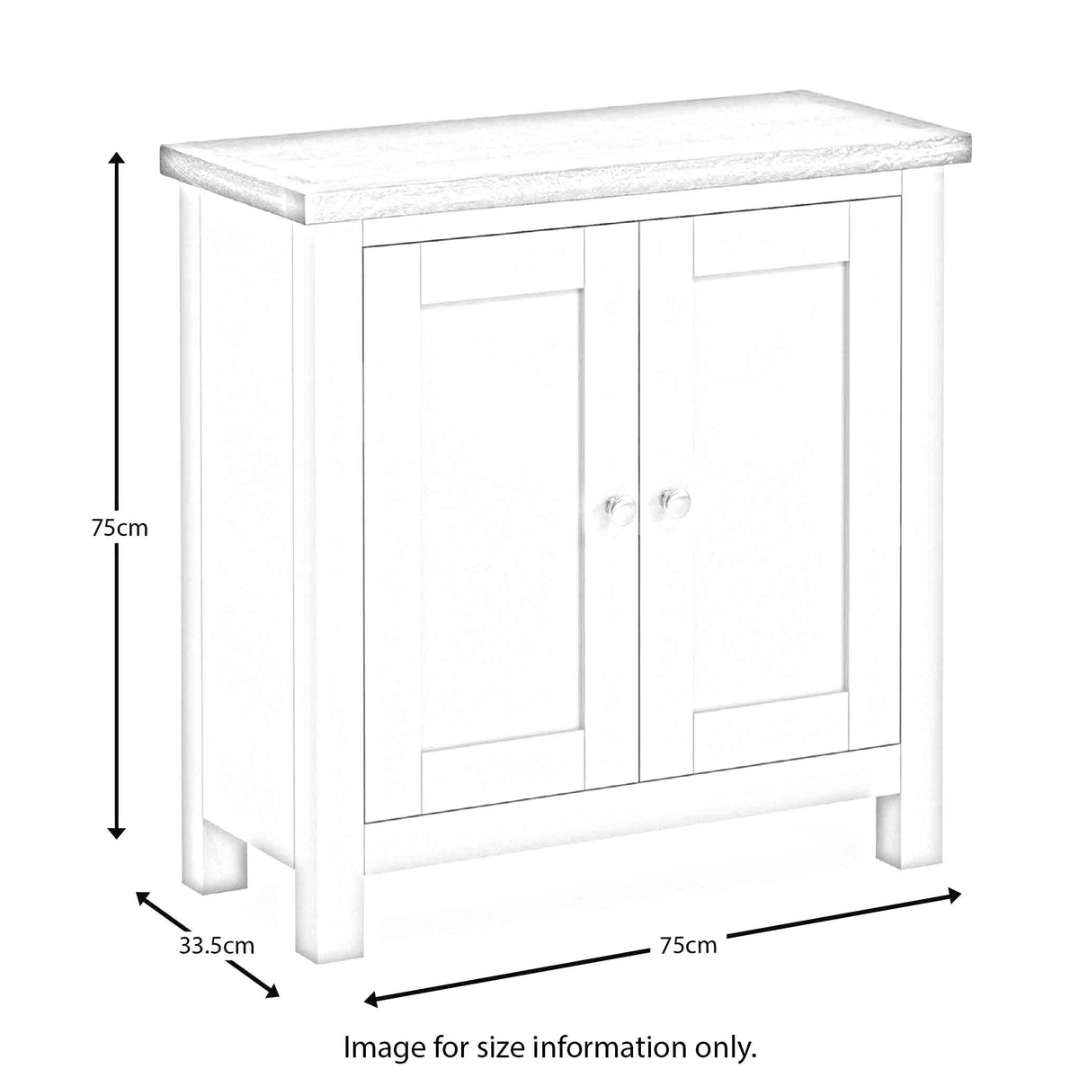 Farrow Grey Cupboard dimensions