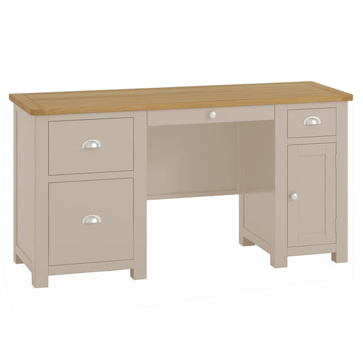 Padstow Grey Double Pedestal Desk
