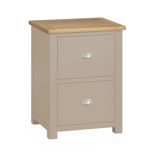 Padstow Grey 2 Drawer Filing Cabinet