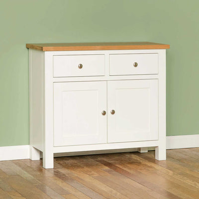 Farrow White Small Sideboard - Lifestyle side view