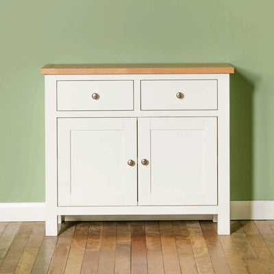 Farrow White Small Sideboard - Lifestyle front view