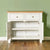 Farrow White Small Sideboard - Lifestyle front view with doors open