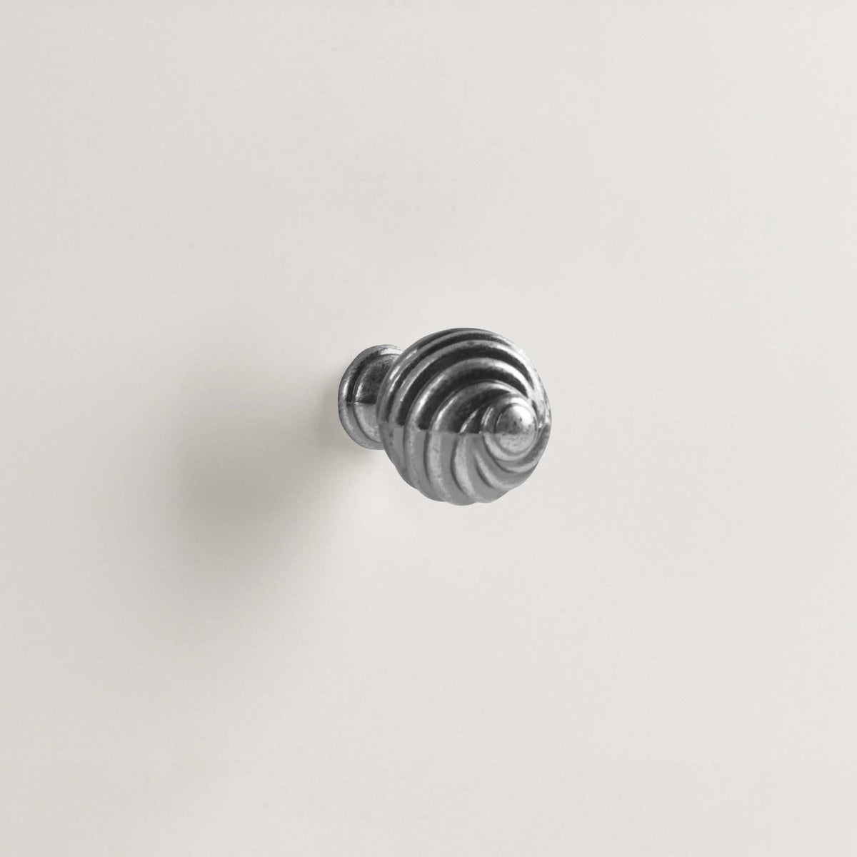 Melrose White twist spiral nickel handles
