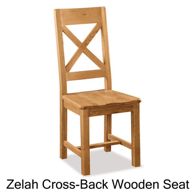 Zelah cross-back wooden seat chair
