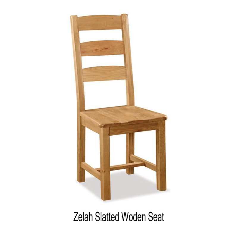 Zelah slatted wooden seat chair