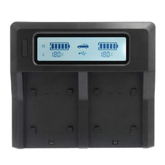 Dual-Channel LCD Charger for Canon BP-955 and BP-975 Batteries