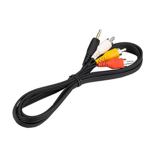 STV-250N Mini A/V Male to 3 RCA Male A/V Cable for Canon Camcorders