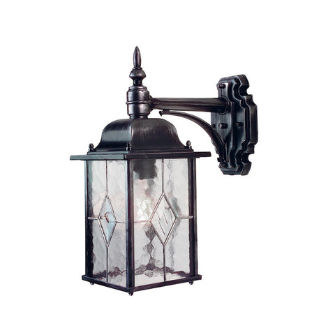 Elstead Wexford Black Silver Finish Outdoor Downlighter Wall Lantern WX2