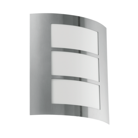 Eglo City Stainless Steel Finish Outdoor Wall Light 88139