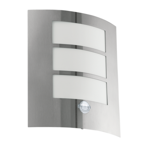 Eglo City Stainless Steel Finish Outdoor PIR Wall Light 88142