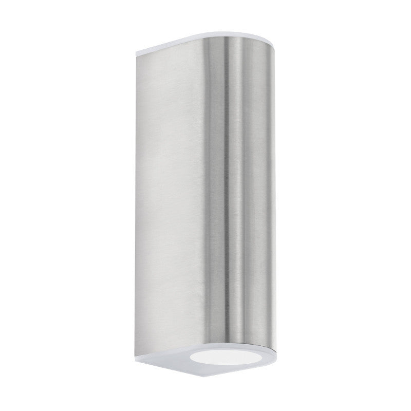 Eglo cabos stainless steel finish outdoor led 2 light wall light eglo cabos stainless steel finish outdoor led 2 light wall light 93271 by eglo outdoor lighting aloadofball Images